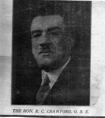 Hon.Robert Charles Crawford O.B.E.